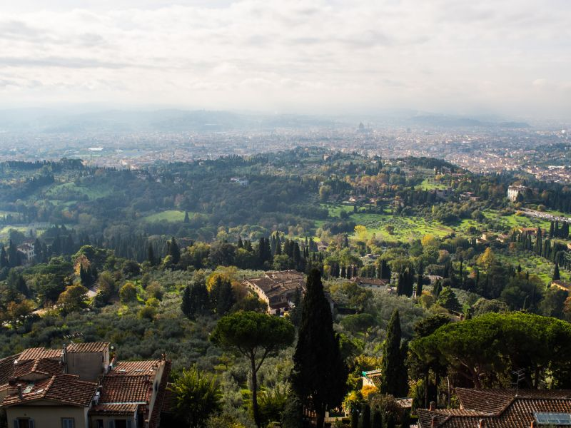 A view on tuscan hills