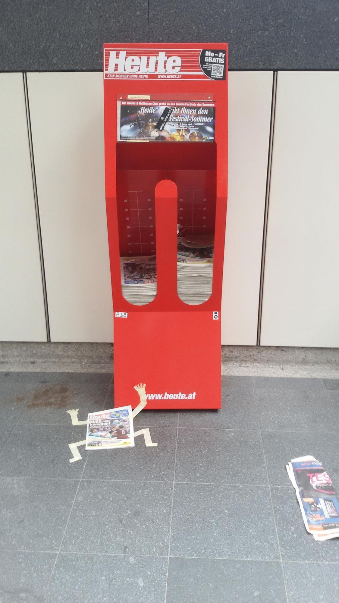 Newspaper stand in metro station